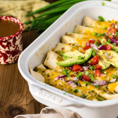 Easy Breakfast Enchiladas with Salsa Verde by Kita Roberts on GirlCarnivore