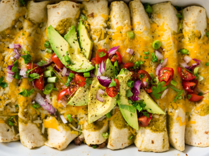 Easy salsa verde breakfast enchiladas recipe on girlcarnivore