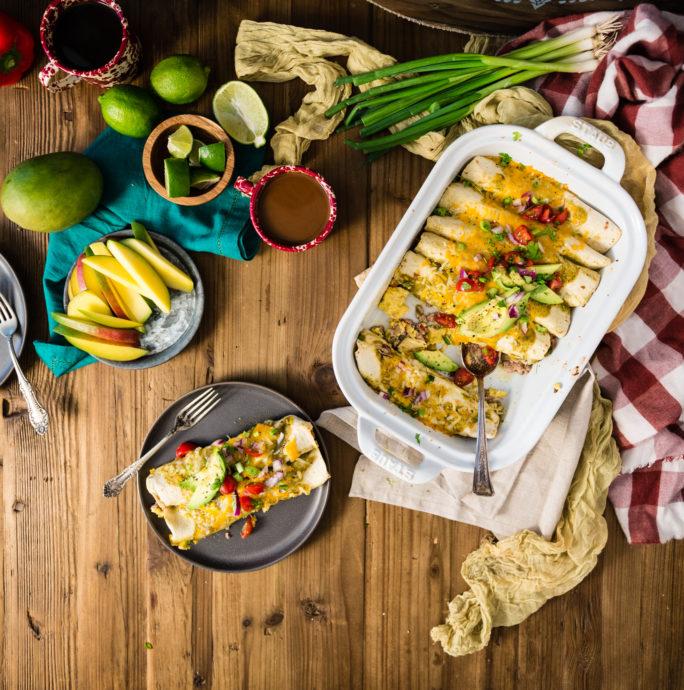 Easy breakfast enchiladas with salsa verde recipe