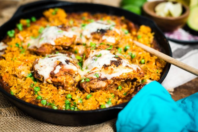 fast chicken and rice with Latin flavors is a great weeknight recipe from GirlCarnivore
