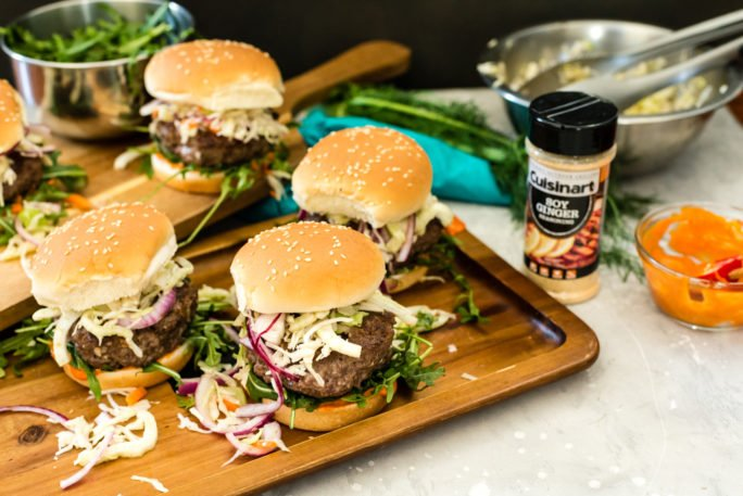 Short Rib Burgers with Lemongrass and Fennel Slaw Recipe on Girlcarnivore.com