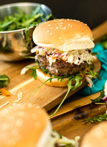 short rib burgers with lemongrass and fennel slaw recipe on girlcarnivore