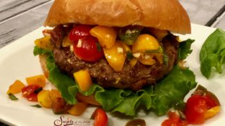 Bruschetta Burgers With Crispy Prosciutto
