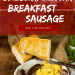 homemade blueberry cheddar breakfast sausage Recipe