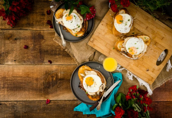 Croque Madame recipe aka fancy ham and cheese sandwiches