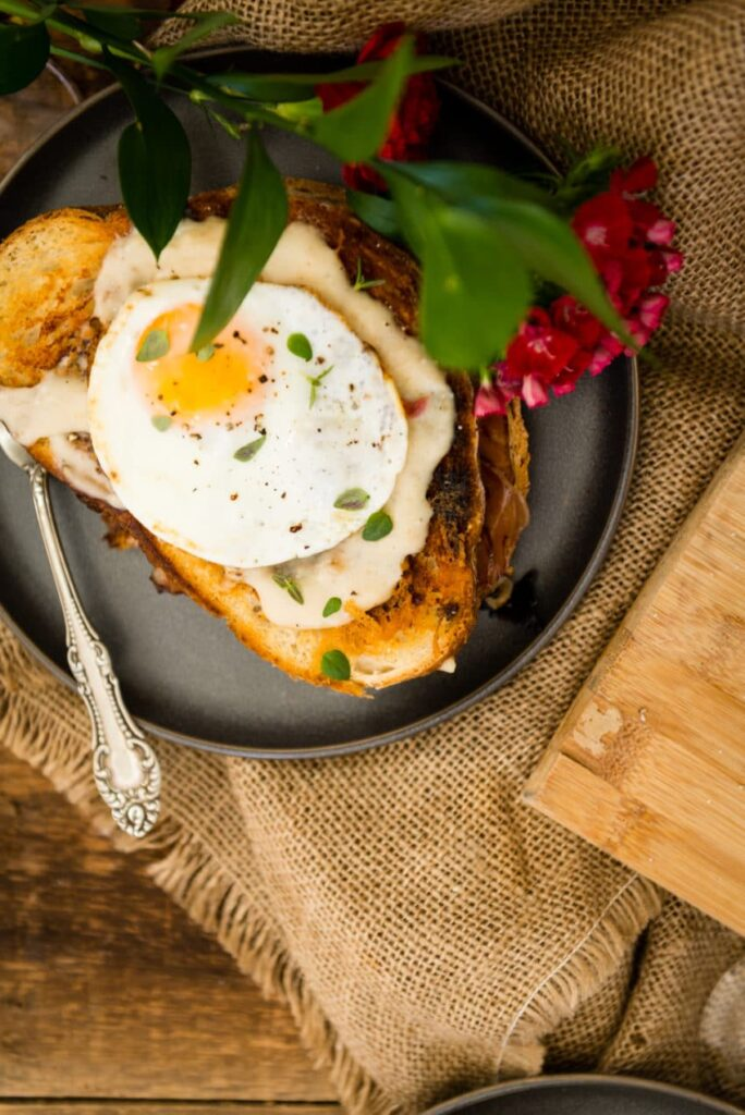Griddle Croque Madame Brunch Recipe