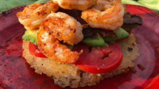 Shrimp Burger On The Blackstone Griddle With Jasmine Rice Bun