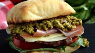Prosciutto Pesto Burger