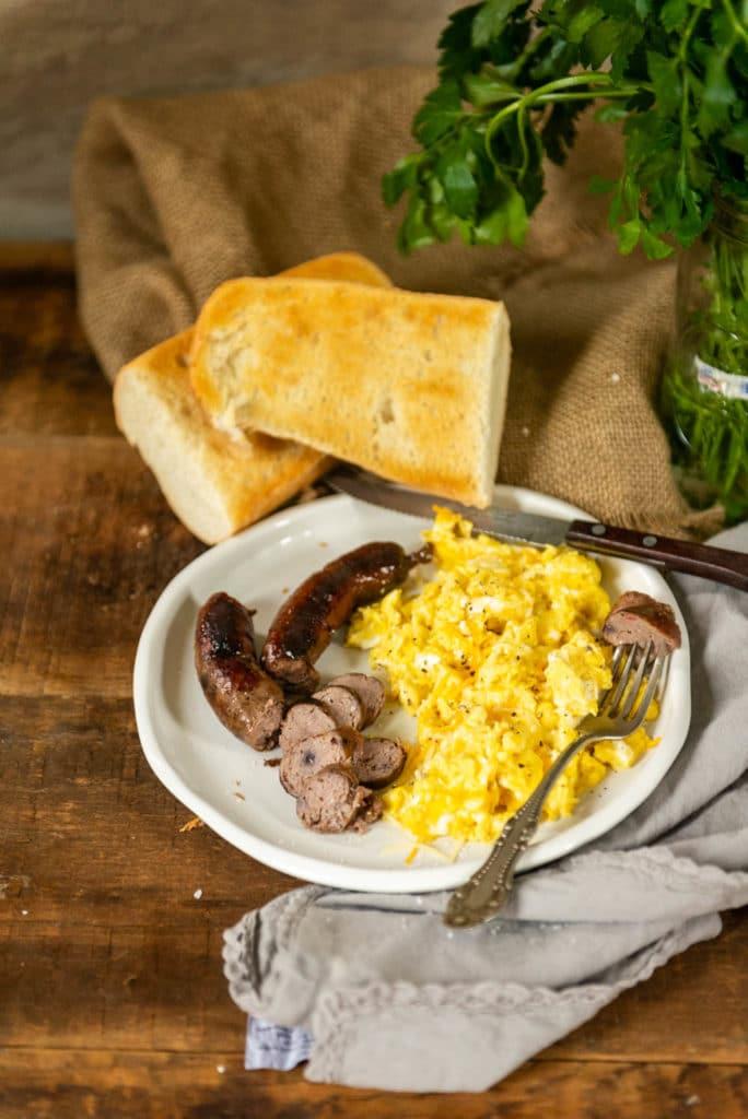 Homemade blueberry cheddar breakfast sausage recipe