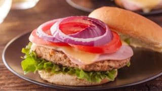 Chicken Burger Cordon Bleu Recipe is a Family Favorite in Burger Form