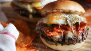 Nacho Cheese Doritos Chilaquile Cheeseburgers PLUS GIVEAWAY