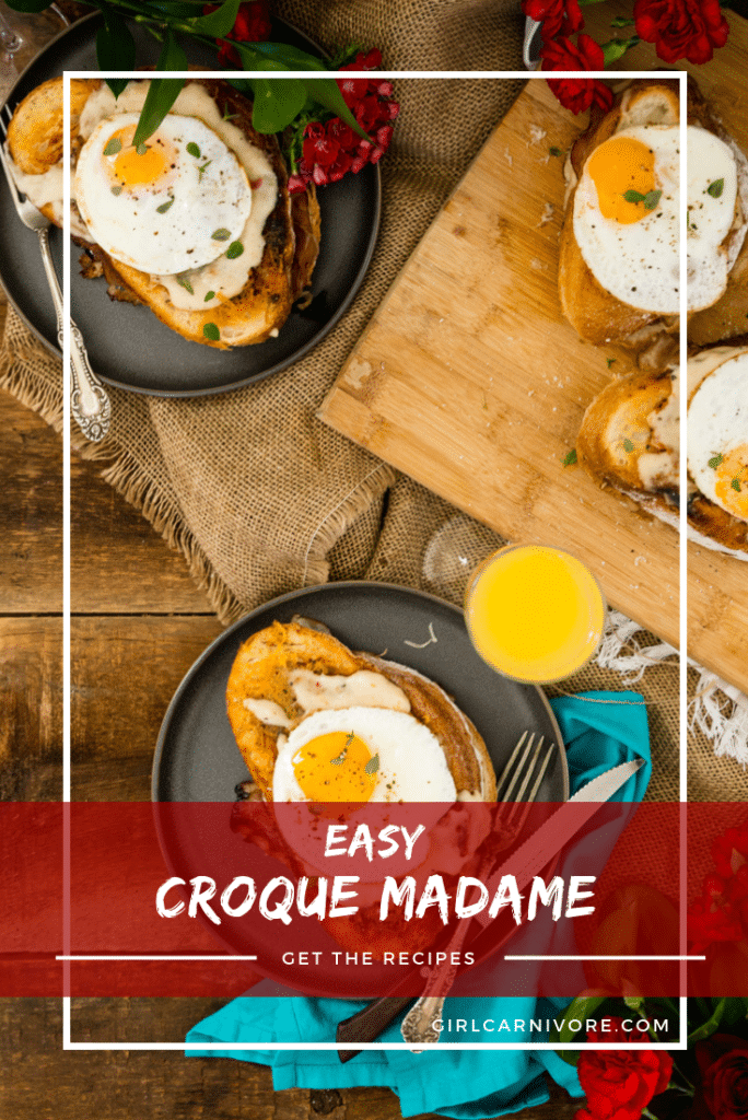 Easy Croque Madame Sandwich Recipe - perfect for brunch and not at all as complicated as they sound.