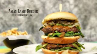 Asian Lamb Burger