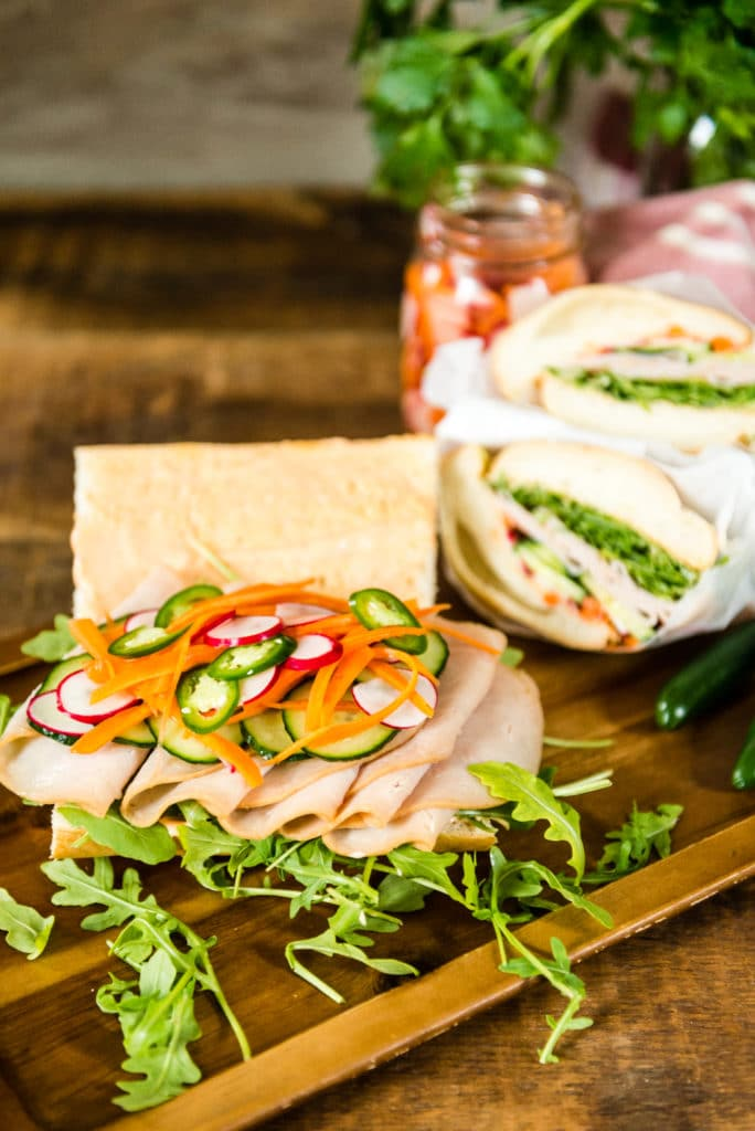 Quick banh mi sandwiches recipe