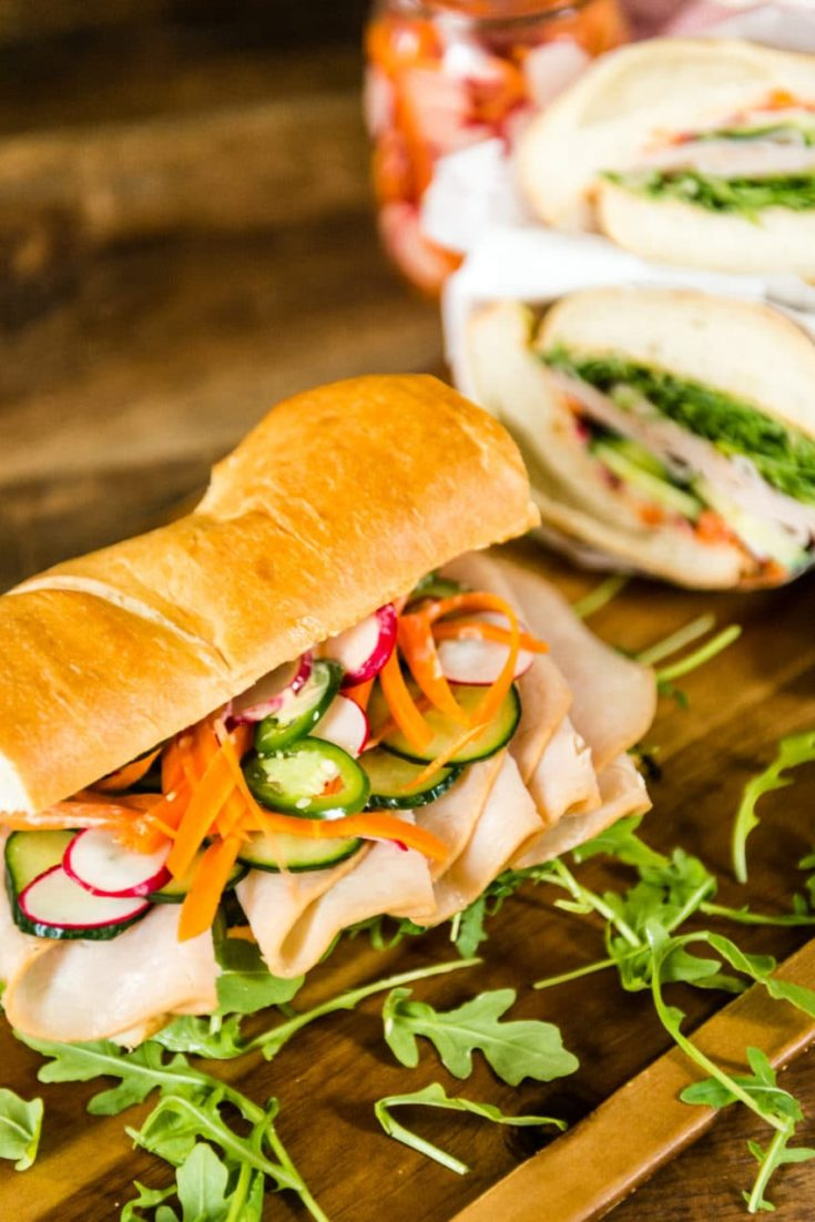 Quick and Easy Banh Mi Recipe with Quick Pickled Veggies