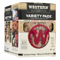 Western Premium BBQ Products BBQ Smoking Chips Variety Pack, 4 Pack