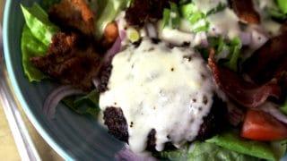 Bacon Burger Salad with Gouda Cheese Sauce