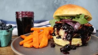 Blueberry Brie Bacon Burger