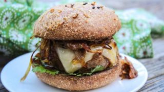 Keto Chipotle Burger with Crispy Shallots