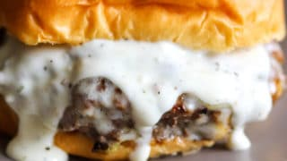 Garlic Overboard Burgers with Creamy Garlic Burger Sauce