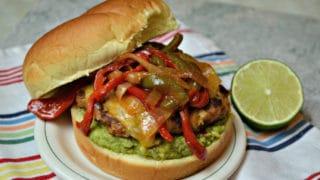 Chicken Fajita Burgers