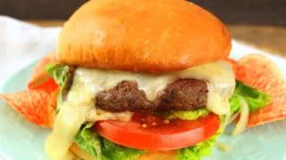 Mushroom Swiss Burgers #BurgerMonth #Ad