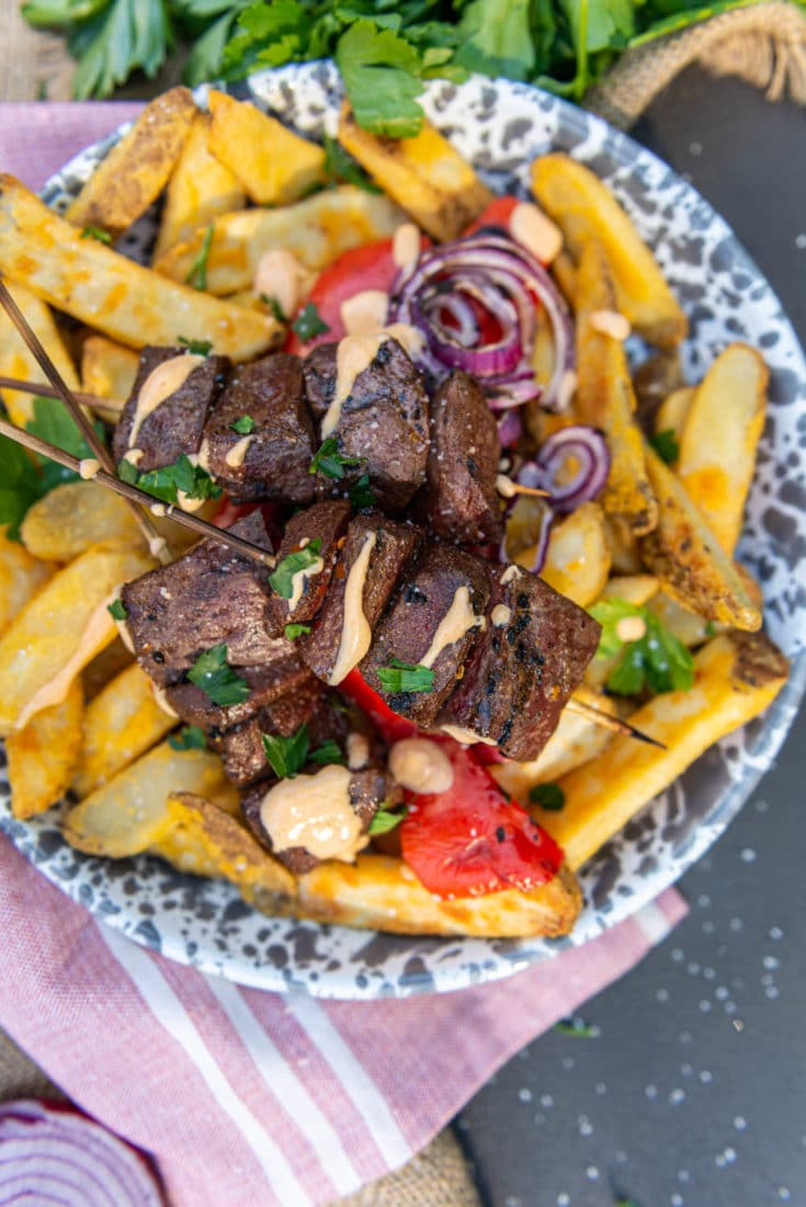 Peruvian Grilled Beef Heart Kabobs