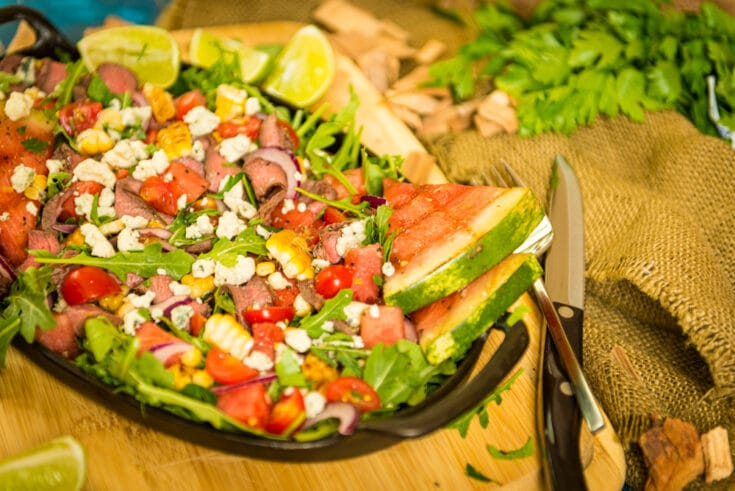 Grilled Flat Iron Steak Salad