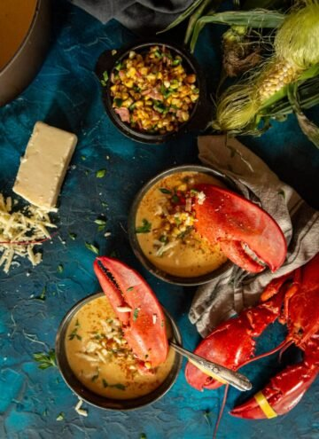 sweet maine lobster and local corn make the best bisque