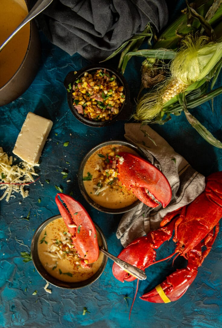 Sweet Corn Lobster Bisque