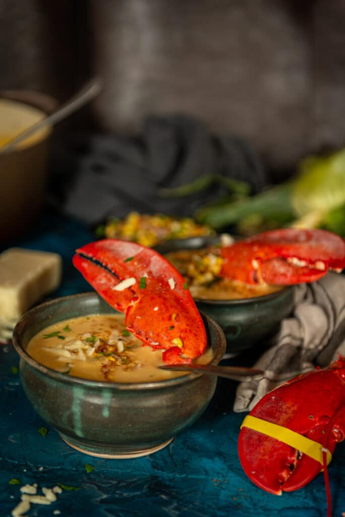 Summer corn and lobster bisque recipe on girlcarnivore