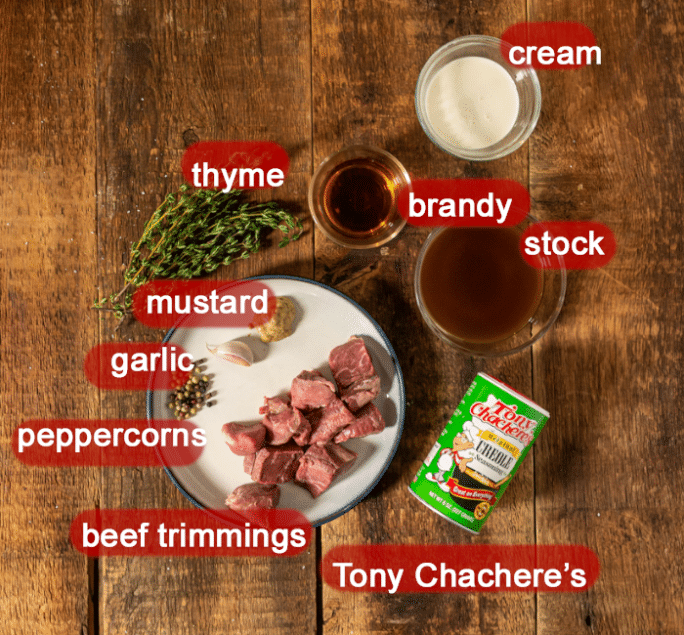 What goes in brandy cream sauce