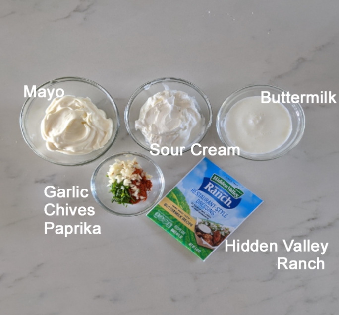 ingredients for hidden valley ranch dressing mix