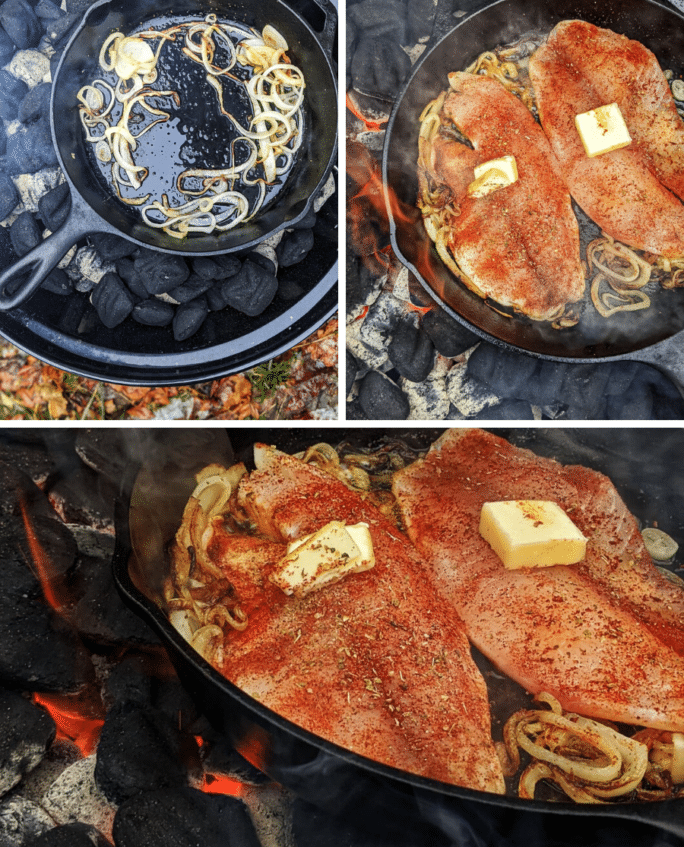 step by step photos for grilling tilapia over coals