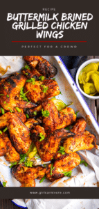 Perfectly spicy smoked chicken wings recipe that can be made on any type of grill (masterbuilt, treager, charcoal, gas, etc) with an easy buttermilk brine and spice rub