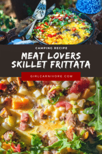 recipe pin for meat lovers skillet frittata.