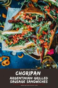 Choripan - Argentinian Grilled chorizo sandwiches