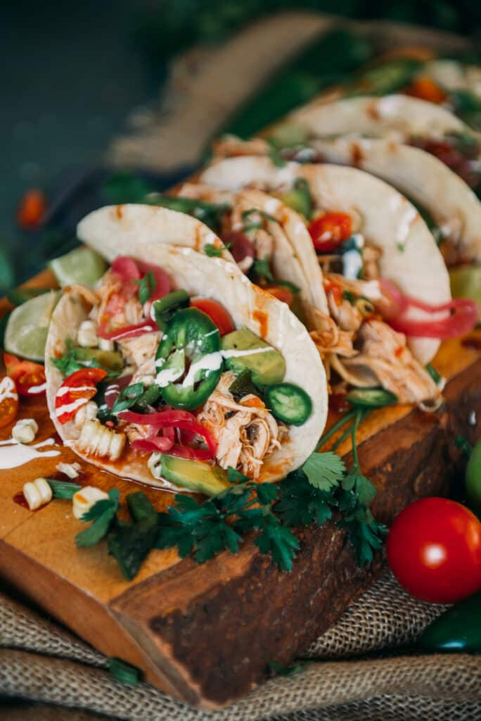 Fillings of Chipotle Chicken Tacos