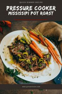 Quick Dinner Recipe Mississippi Pot Roast