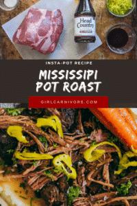 Insta-pot recipe Mississippi Pot Roast