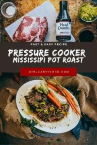 Pressure Cooker Mississippi Pot Roast