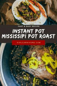 Easy Instant Pot Mississippi Pot Roast