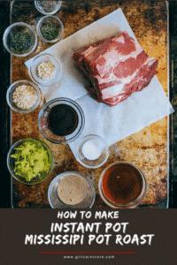 Ingredients for Mississippi Pot Roast