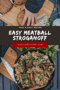 How to Make One Pan Easy Meatball Beef Stroganoff