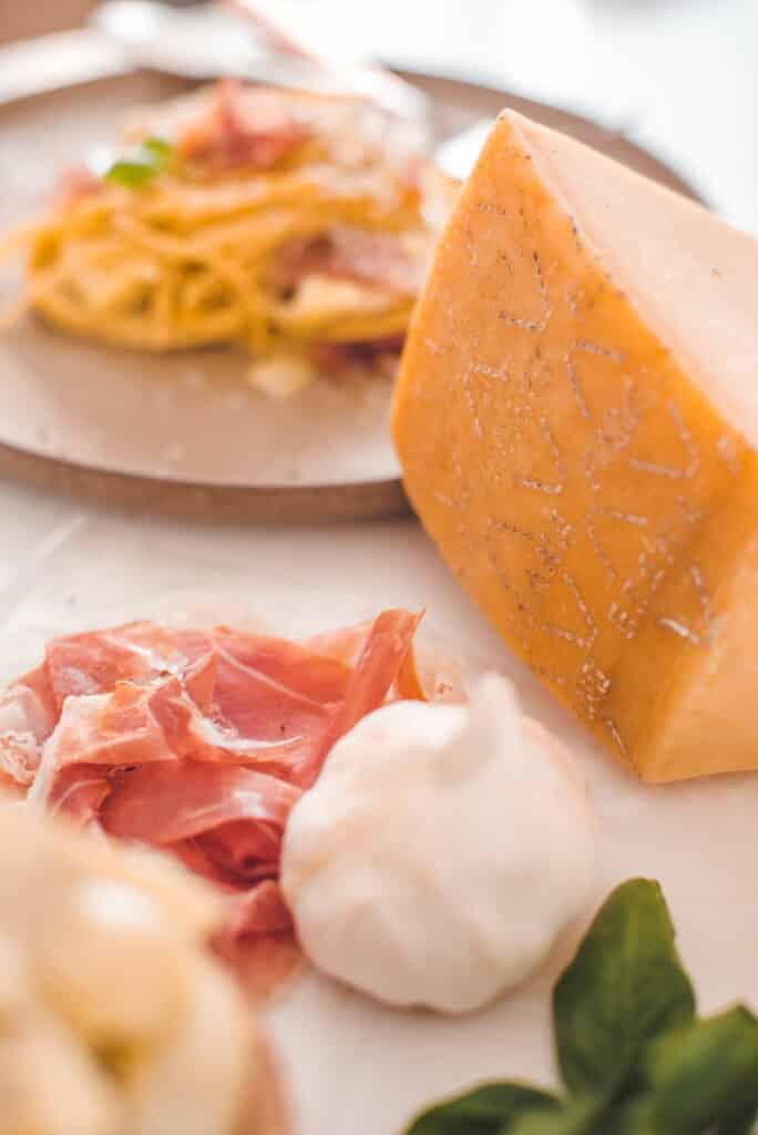 Grana Padano Cheese and Prosciutto di San Daniele or Classic Carbonara