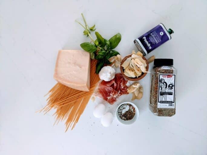 Ingredients to Create classic carbonara
