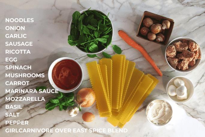 Ingredients to Cook Lasagna in a Skillet