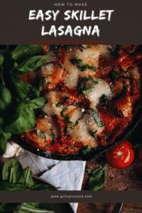 Easy Skillet Lasagna Pin
