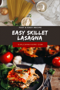 Fast and Easy Recipe Skillet Lasagna PIN