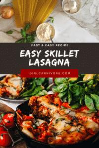 Fast and Easy Skillet Lasagna Pin